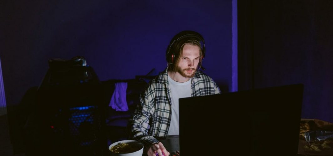 gamer participating in gaming tournament